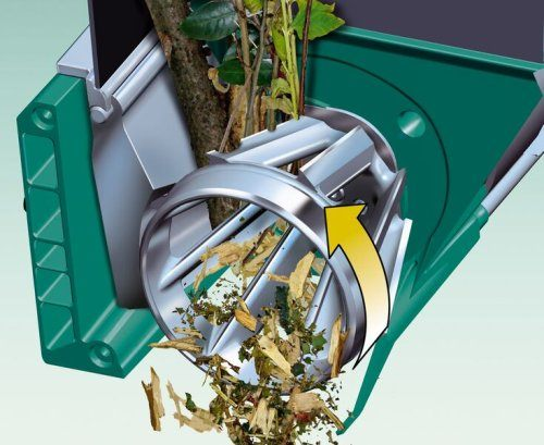 dank moderner Häcksler-Technologie mustert sich der Bosch AXT 25 TC zu Gartenhäcksler-Vergleichs-Testsieger