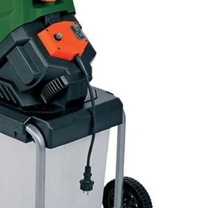 Monzana® Elektrischer Gartenhäcksler Schredder Leisehäcksler Häcksler
