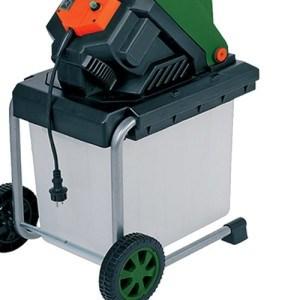 Monzana® Elektrischer Gartenhäcksler Schredder Leisehäcksler Häcksler Holzhäcksler 2500W 50L Auffangbox